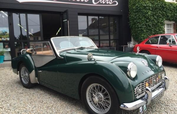 triumph tr3 1958 paul 39 s classic cars vente de voitures de collection anglaise. Black Bedroom Furniture Sets. Home Design Ideas